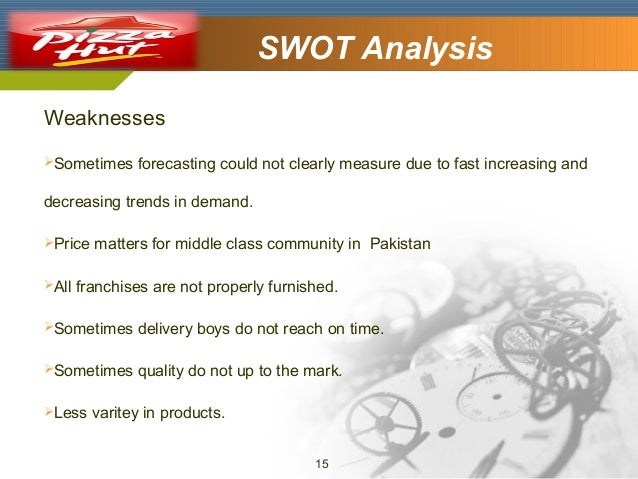 SWOT Analysis  Company Logo  Weaknesses Sometimes  forecasting could not clearly measure due to fast increasing and  decr...
