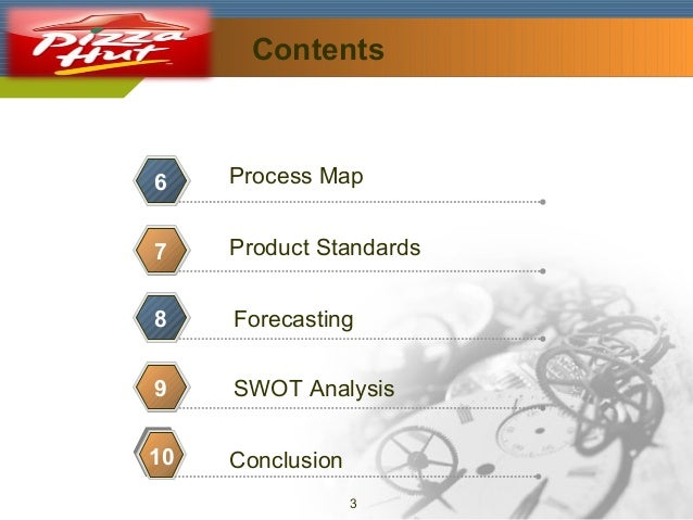 Contents  Company Logo  6  Process Map  7  Product Standards  8  Forecasting  9  SWOT Analysis  10  Conclusion 3