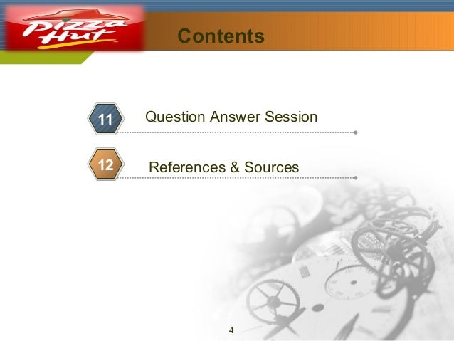 Company Logo  Contents  11  Question Answer Session  12  References & Sources  9  4