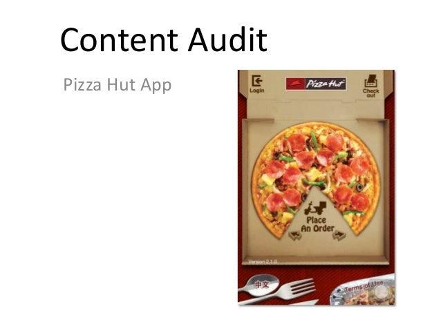Content Audit Pizza Hut App