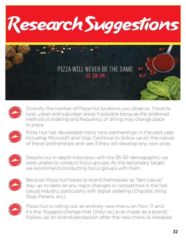 what is found from pizza hut research methods Domino's privacy policy australia & new zealand last updated 23 january 2018 domino's pizza enterprises limited and domino's pizza new zealand limited (domino's) respects the privacy of individuals.