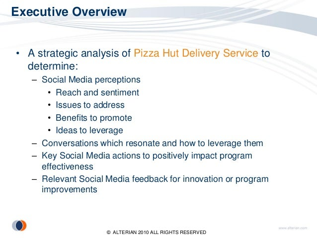 pizza hut case study essays Papa john's case study essay sample  threat of rivalry is high within the pizza industry as pizza hut controls the largest market share (8-12%).