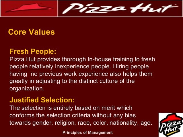 pizza hut organization This edition of mrm's daily bite has news from pizza hut, chipotle and  since  december 1982, the organization has rescued and delivered.
