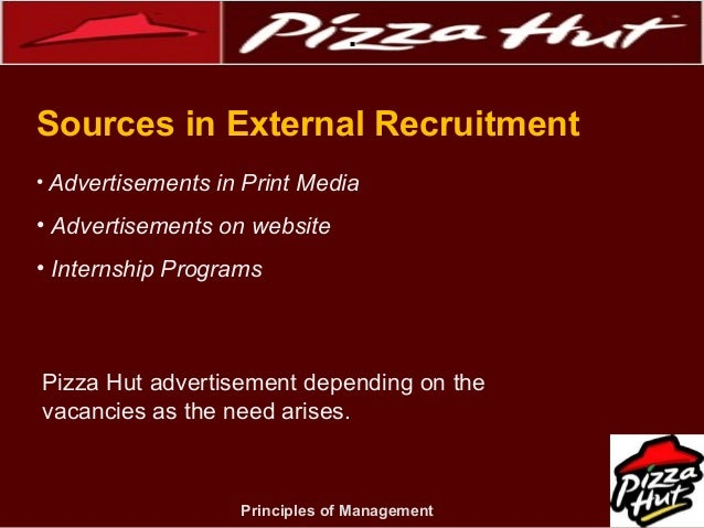 human resource development at pizza hut To cope with our continue business development, we have an increasing need of   sales and marketing, human resources management, cost management, etc.