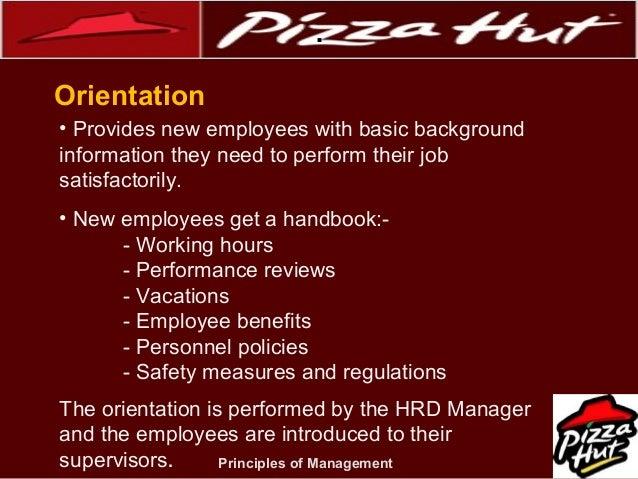 pizza hut employee handbook Pizza hut hrm