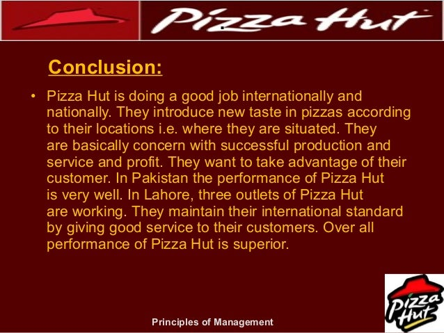 peformance of pizza hut as a company Yum brands inc's stock rose more than 6 percent on thursday on improving  results at pizza hut and the company's better-than-expected.
