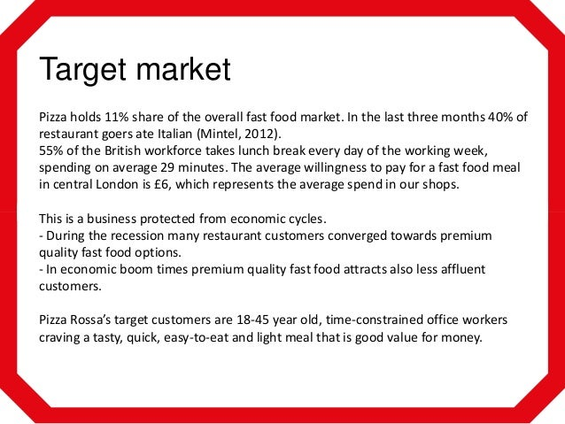 target market of pizza hut