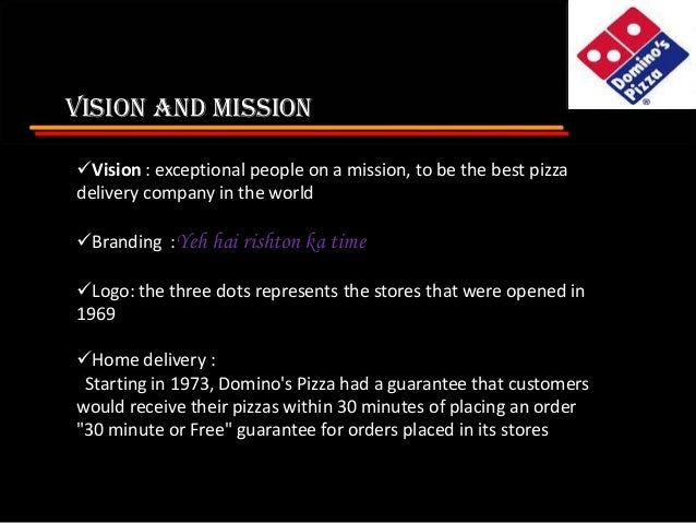 pizza hut mission and vision Pizza hut singapore our brand vision to be the favourite casual dining place  for families and friends to gather for great food and great time together, as it is.