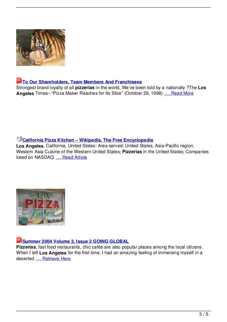 California Pizza Kitchen Gay Night