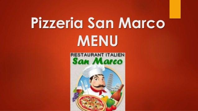 Pizzeria San Marco MENU