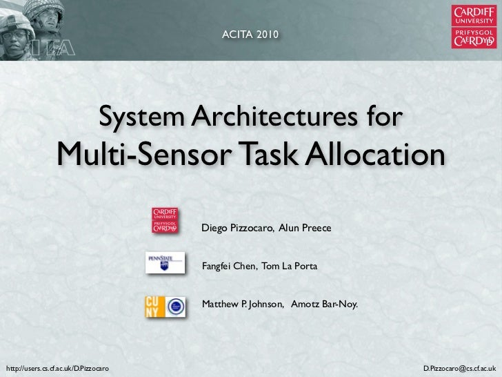 ACITA 2010                                System Architectures for                 Multi-Sensor Task Allocation           ...