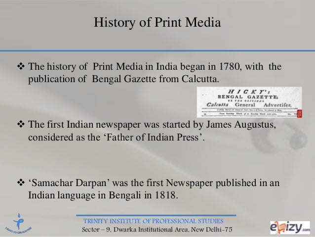 history of print media in sub continent News media trends follow the rss feed for this page: pew research center august 21, 2018 5 facts about the state of the news media in 2017 audiences for nearly.
