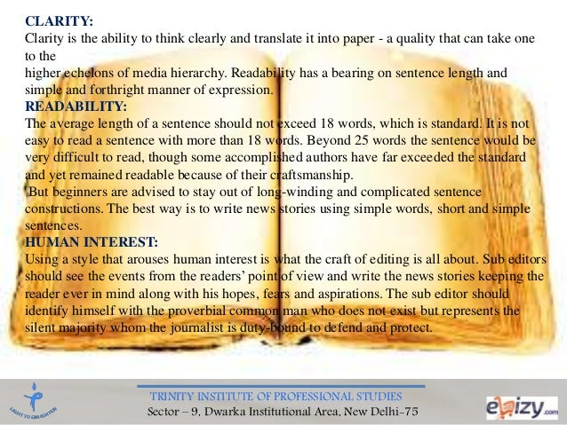 principles of print news writing and reporting