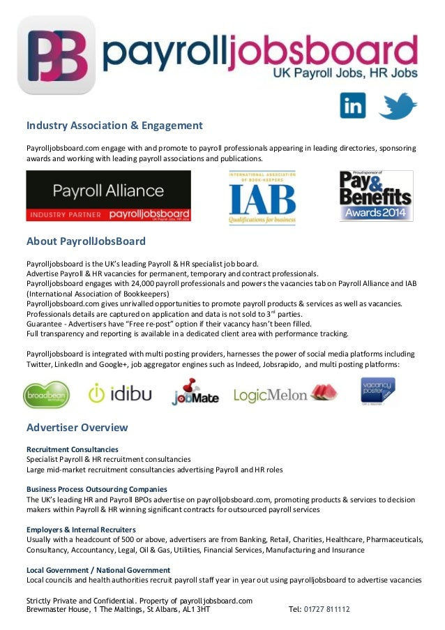 Strictly Private and Confidential. Property of payrolljobsboard.com Brewmaster House, 1 The Maltings, St Albans, AL1 3HT T...