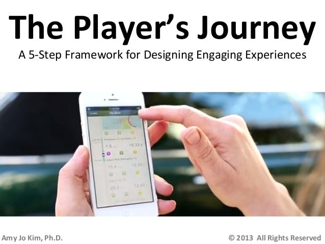 The Player's Journey A 5-Step Framework for Designing Engaging Experiences  Amy Jo Kim, Ph.D.  © 2013 All Rights Reserved