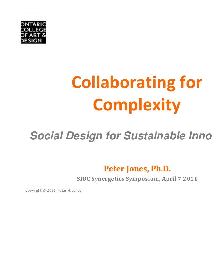 Collaborating for                             Complexity  Social Design for Sustainable Innovation                        ...