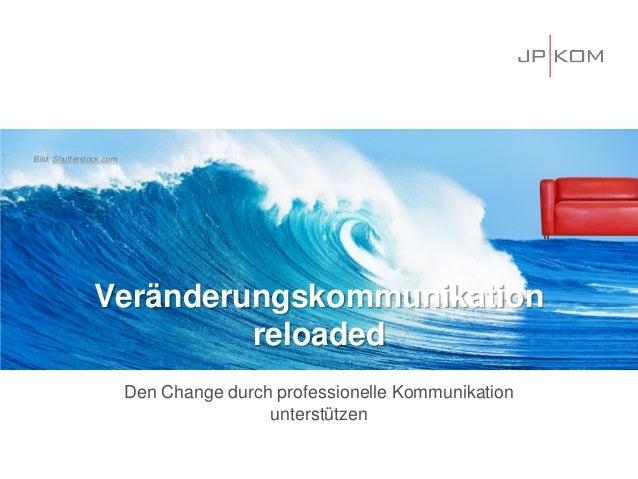 Veränderungskommunikation reloaded  Den Change durch professionelle Kommunikation unterstützen  Bild: Shutterstock.com