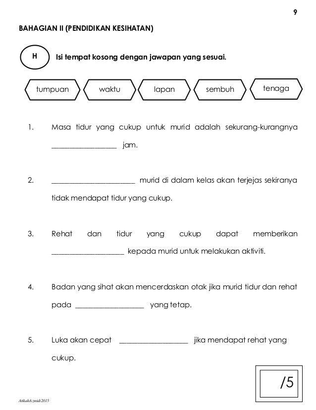Contoh Soalan Peperiksaan Akhir Tahun Darjah 3 Pendidikan Islam 9 Descargar