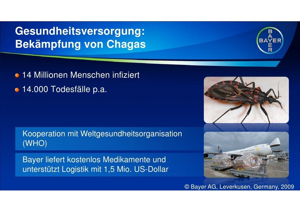 Gesundheitsversorgung: Bekämpfung von Chagas   14 Millionen Menschen infiziert  14.000 Todesfälle p.a.      Kooperation mi...