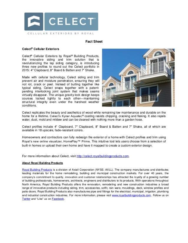 Royal Building Products Fact Sheets