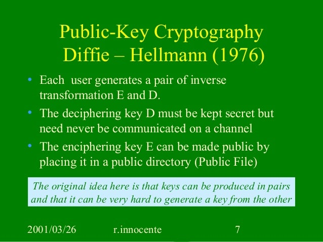 public key cryptography Chapter 8 public key cryptography public-key cryptography is a radical departure from all that has gone before right up to modern times all cryptographic systems.