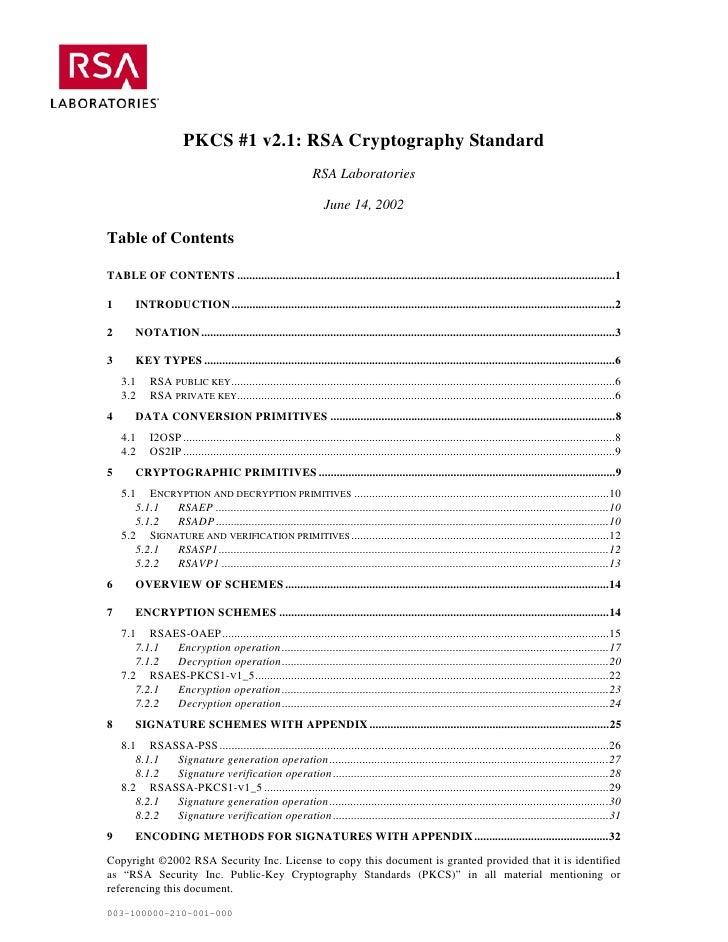 PKCS #1 v2.1: RSA Cryptography Standard                                                                 RSA Laboratories  ...
