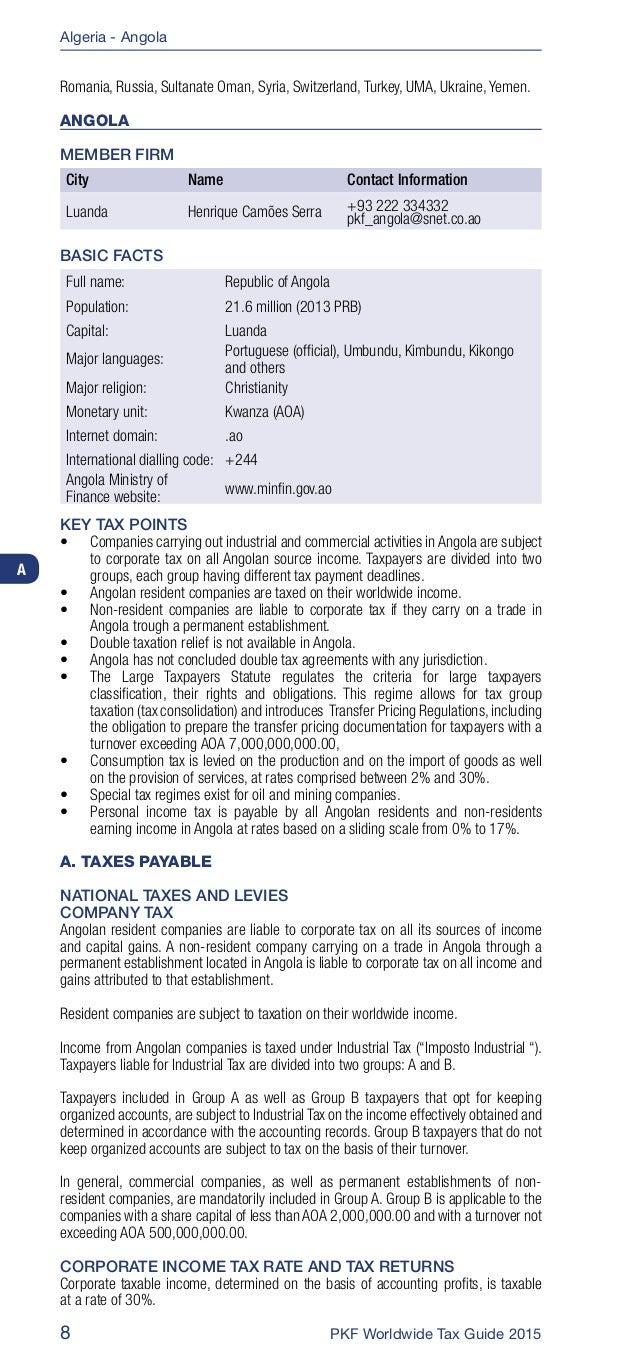 pkf worldwide tax guide 2015 rh slideshare net Chartered Accontants PKF Business Advisers Logo www Intporn 2 0 Com PKF Studiios