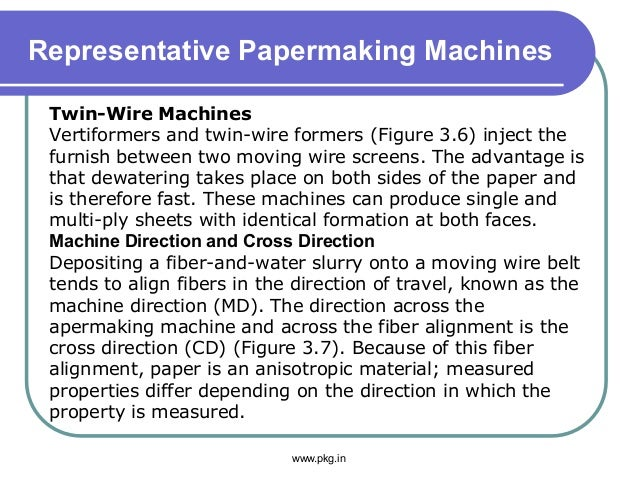 Representative Papermaking Machines Twin-Wire Machines Vertiformers and twin-wire formers (Figure 3.6) inject the furnish ...