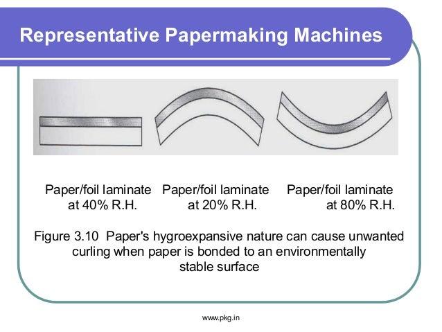 Representative Papermaking Machines Paper/foil laminate Paper/foil laminate Paper/foil laminate at 40% R.H. at 20% R.H. at...