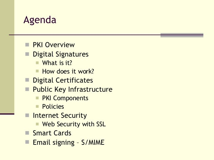 PKI and Applications Slide 2