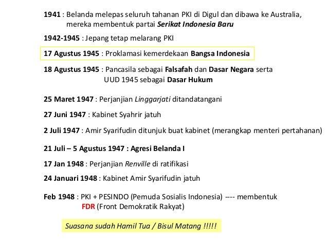 17 Agustus 1945 : Proklamasi kemerdekaan Bangsa Indonesia 18 Agustus 1945 : Pancasila sebagai Falsafah dan Dasar Negara se...
