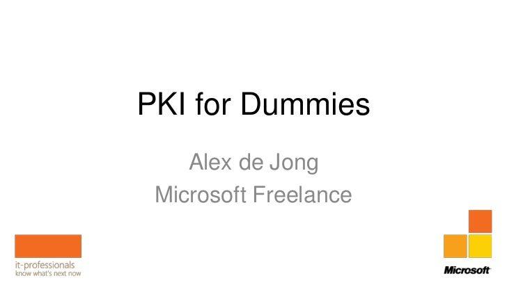 Pki for dummies Slide 2