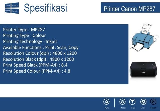 Presentasi Prakerin Printer MP287