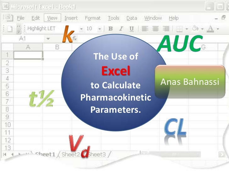 The Use of    Excel  to Calculate  Anas BahnassiPharmacokinetic  Parameters.