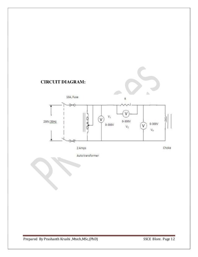 Basic Electrical Engineering Lab Manual 2018 cbcs scheme VTU
