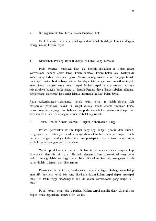 Proposal Program Kreatifitas Mahasiswa Budidaya Lele Organik Media Te