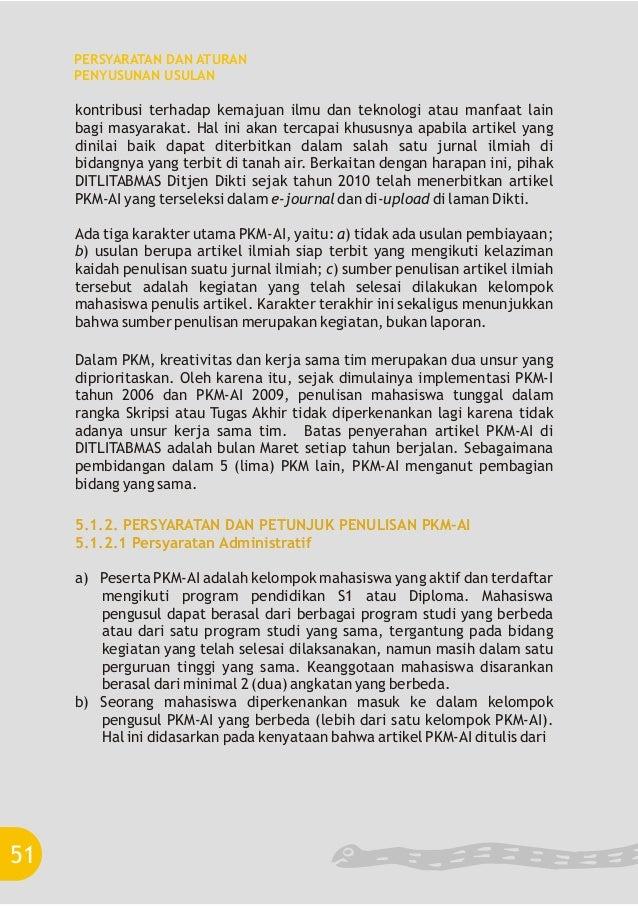 Pkm 2012 6 Format Dan Struktur Usulan Pkm Karya Tulis