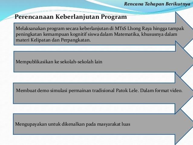 Rencana Tahapan Berikutnya  Perencanaan Keberlanjutan Program  Melaksanakan program secara keberlanjutan di MTsS Lhong Ray...