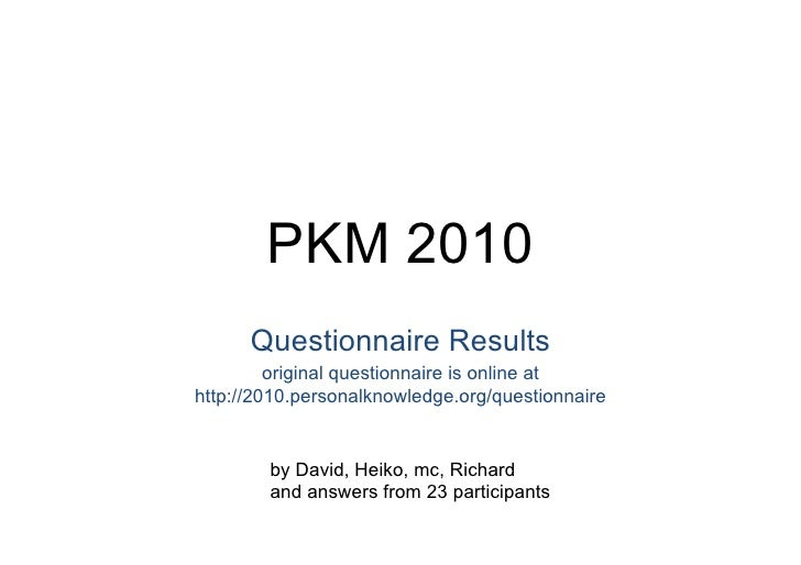 PKM 2010 - Workshop Slides Slide 2