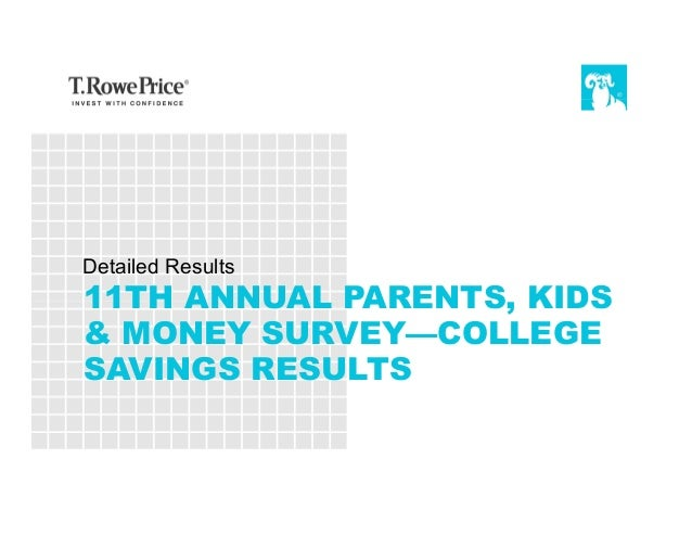 11TH ANNUAL PARENTS, KIDS & MONEY SURVEY—COLLEGE SAVINGS RESULTS Detailed Results