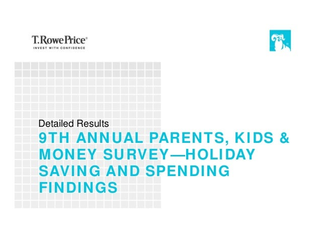 9TH ANNUAL PARENTS, KIDS & MONEY SURVEY—HOLIDAY SAVING AND SPENDING FINDINGS Detailed Results