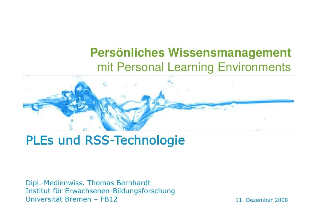 WEB 2.0   E-LEARNING 2.0   PLE   SOCIAL SOFTWARE   IBM   SEMINARVERLAUF                                                   ...