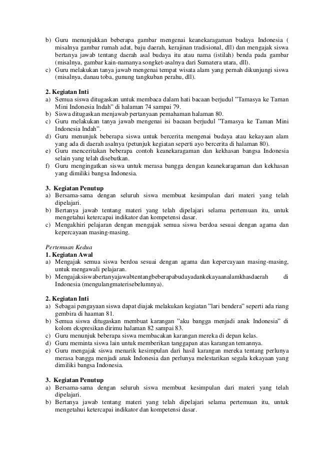 b) Guru menunjukkan beberapa gambar mengenai keanekaragaman budaya Indonesia ( misalnya gambar rumah adat, baju daerah, ke...