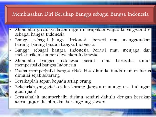 bangga sebagai bangsa Indonesia