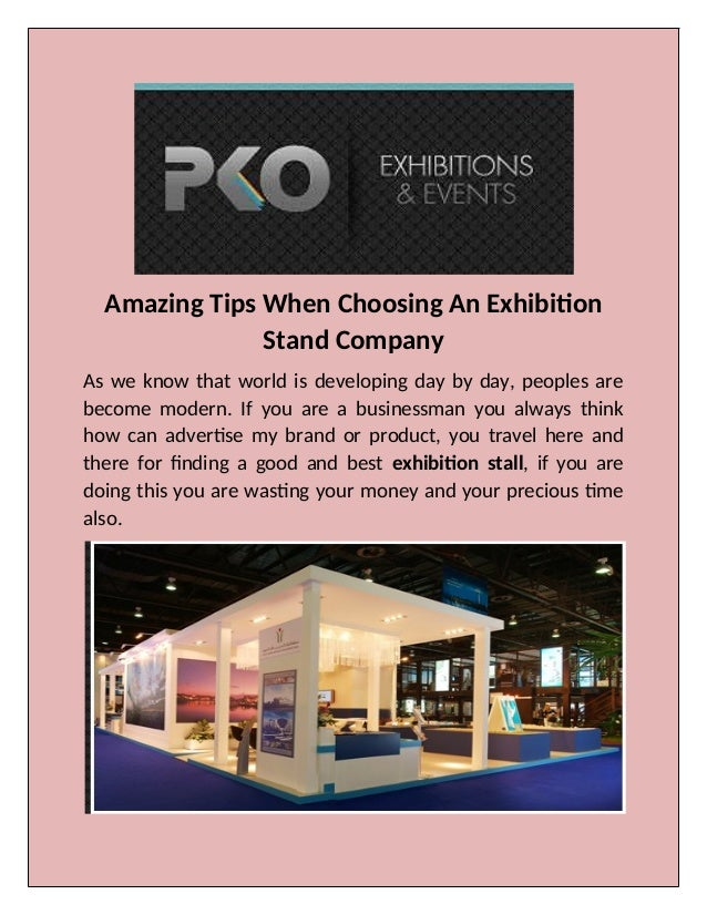 Pko Exhibition Stand Designers And Builders : We provides best exhibition booth construction in dubai
