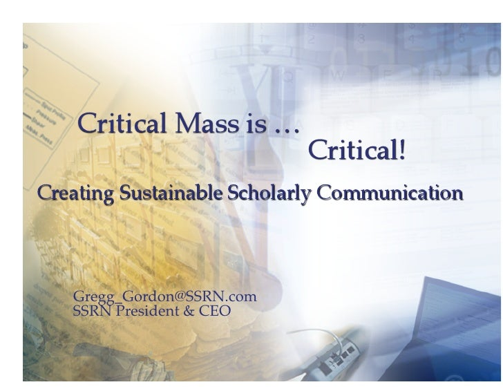 Gregg_Gordon@SSRN.com     SSRN President & CEO