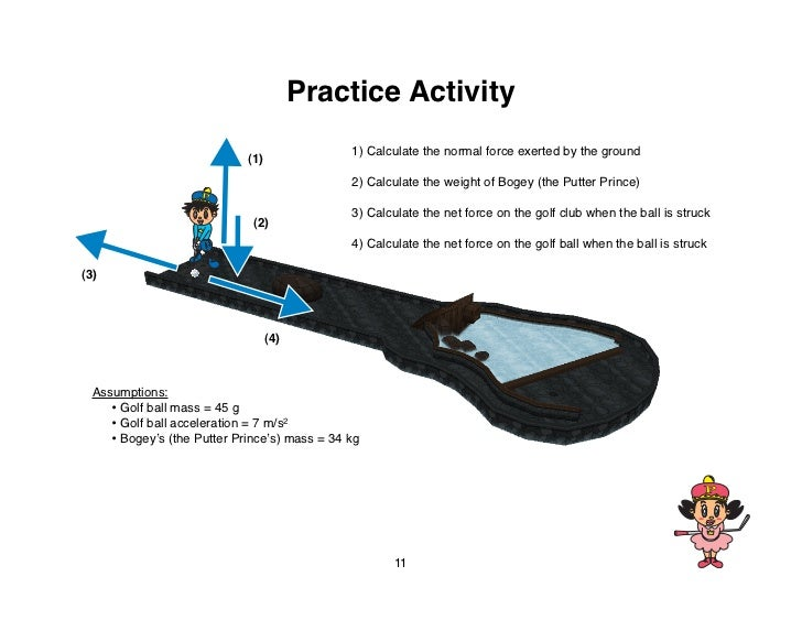 Practice Activity                                               1) Calculate the normal force exerted by the ground       ...