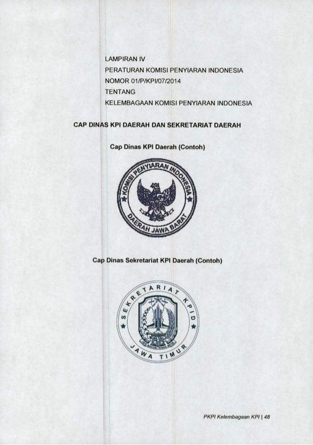 PKPI No 01/2014 Tentang Kelembagaan KPI