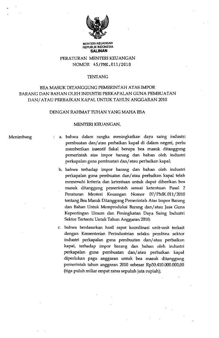 MENTERI KEUANGAN                              REPUBLIK INDONESIA                                  SALINAN                 ...
