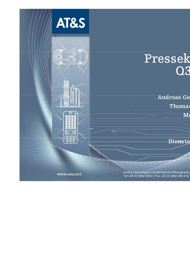 Pressekonferenz                                  Q3 2011/12                                       Andreas Gerstenmayer (CE...